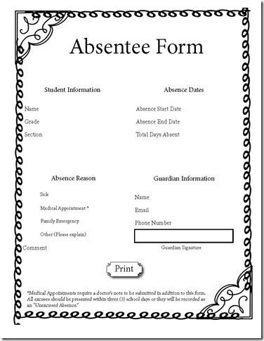 2Absentee form